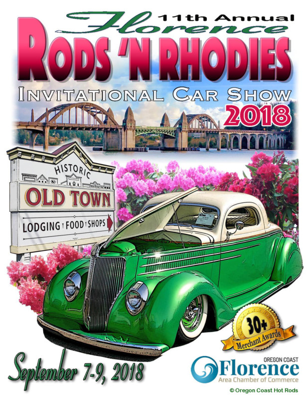 Rods N Rhodies Weekend Florence Oregon Coast Hot Rods - Old town car show 2018