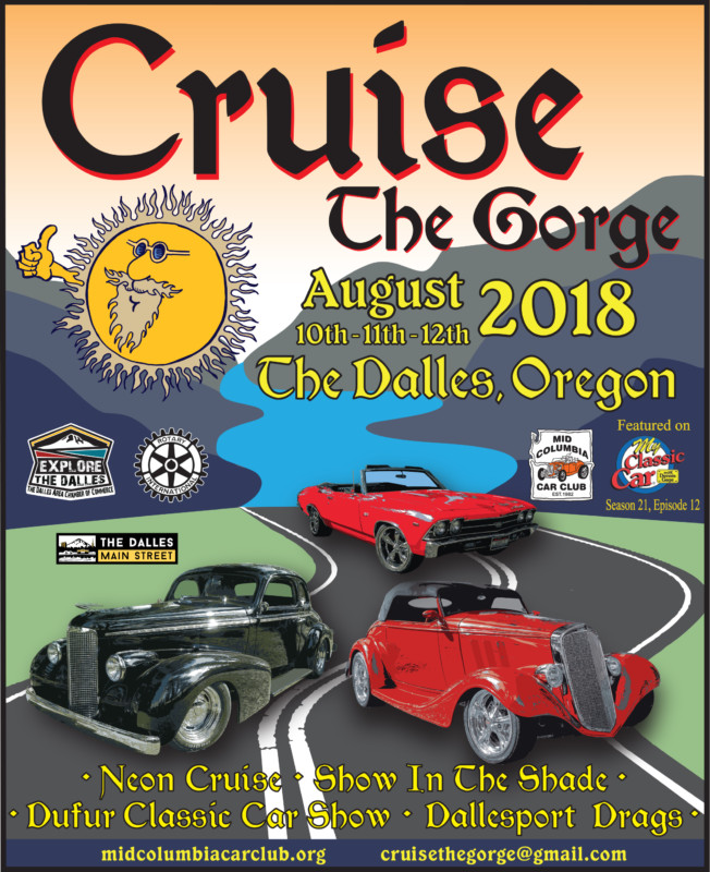 Cruise The Gorge Car Show Weekend. The